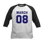 March 08 Kids Baseball Jersey