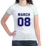 March 08 Jr. Ringer T-Shirt