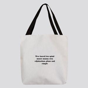 Funny teacher Polyester Tote Bag