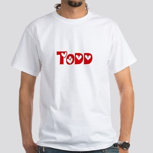 Todd Surname Heart Design T-Shirt