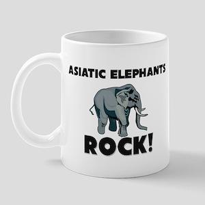 Asiatic Elephants Rock! Mug
