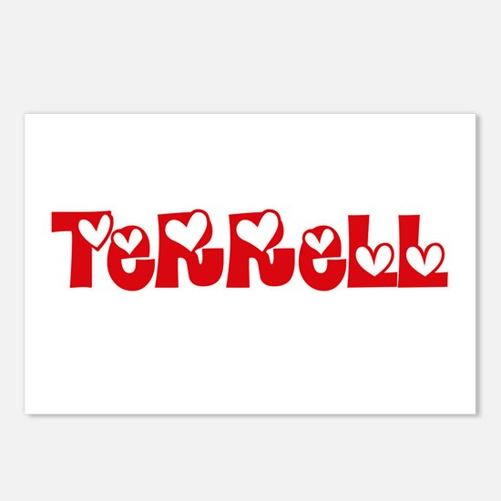 Terrell Surname Heart Des Postcards (Package of 8)