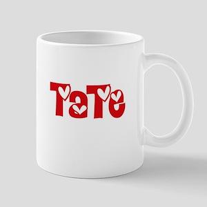 Tate Surname Heart Design Mugs