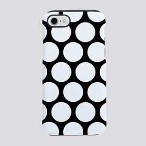 DOTS IN BLACK AND WHITE iPhone 8/7 Tough Case