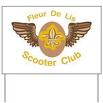 Fleu De Lis Scooter Club Yard Sign