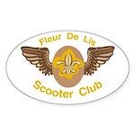 Fleu De Lis Scooter Club Oval Sticker