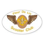 Fleu De Lis Scooter Club Oval Sticker (10 pk)