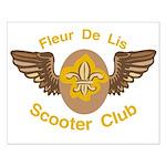 Fleu De Lis Scooter Club Small Poster