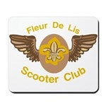 Fleu De Lis Scooter Club Mousepad