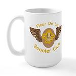 Fleu De Lis Scooter Club Large Mug