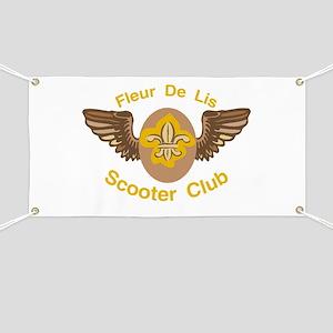 Fleu De Lis Scooter Club Banner