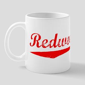 Vintage Redwood City (Red) Mug