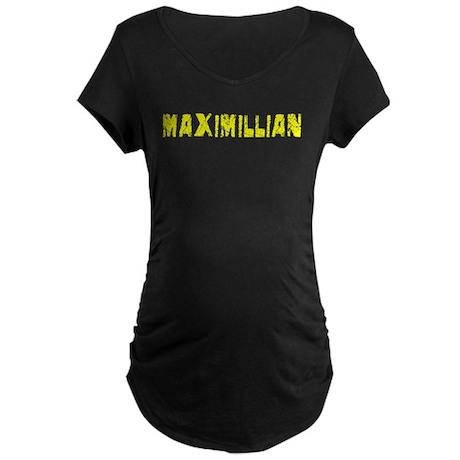 Maximillian Faded (Gold) Maternity Dark T-Shirt