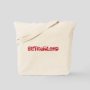 Sutherland Surname Heart Design Tote Bag