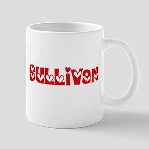 Sullivan Surname Heart Design Mugs