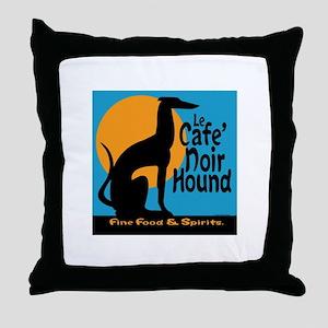 Le Cafe' Noir Hound Throw Pillow