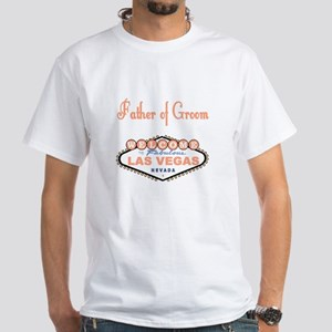 Cantaloupe LV Father of Groom White T-Shirt