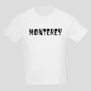 Monterey Faded (Black) Kids Light T-Shirt