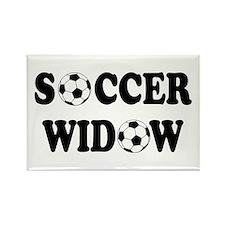 Soccer Widow Rectangle Magnet
