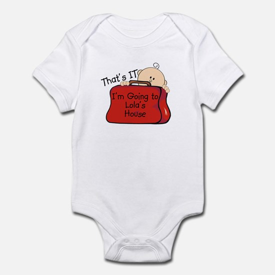 Going to Lola's Funny Infant Bodysuit