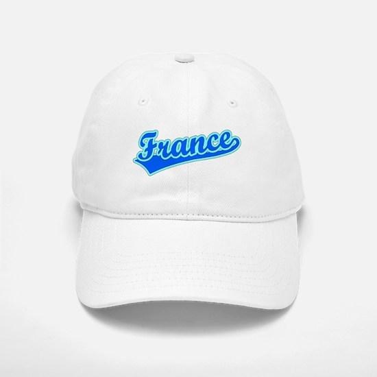 Retro France (Blue) Baseball Baseball Cap