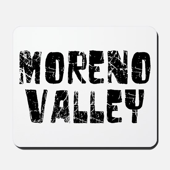 Moreno Valley Faded (Black) Mousepad