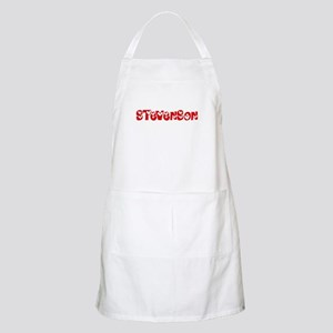 Stevenson Surname Heart Design Light Apron