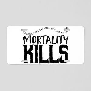 Mortality Kills Aluminum License Plate