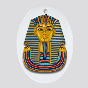 King Tut Mask #2 Oval Ornament