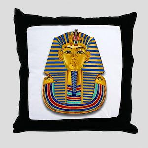 King Tut Mask #2 Throw Pillow