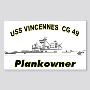 Vincennes Plankowner Rectangle Sticker