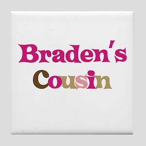 Braden's Cousin Tile Coaster
