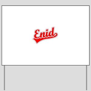 Retro Enid (Red) Yard Sign
