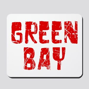 Green Bay Faded (Red) Mousepad