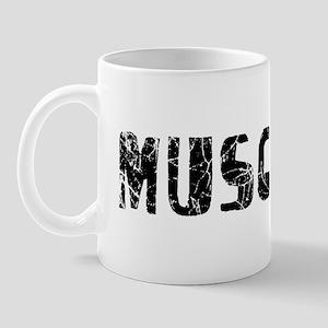 Muscatine Faded (Black) Mug