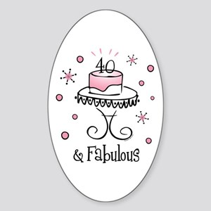 Fabulous 40 Oval Sticker