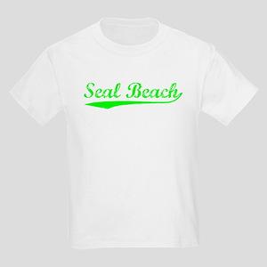 Vintage Seal Beach (Green) Kids Light T-Shirt