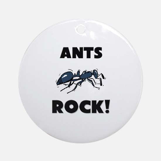 Ants Rock! Ornament (Round)