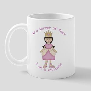 Black hair Princess Mug
