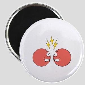 Clashing Fighting Smileys Magnet