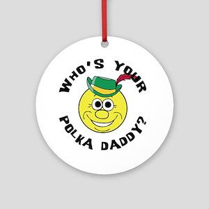 Funny Polka Ornament (Round)