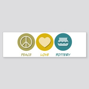 Peace Love Pottery Bumper Sticker