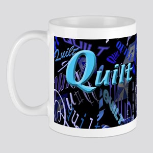 Quilt Blue Dark Mug