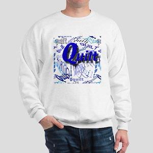 Quilt Blue Sweatshirt