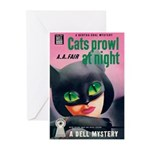 """Greeting (10)-""""Cats Prowl at Night"""""""
