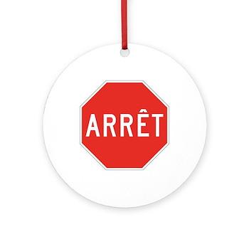 Stop, Quebec (CA) Ornament (Round)