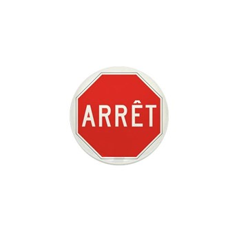 Stop, Quebec (CA) Mini Button (10 pack)