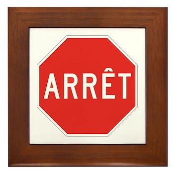 Stop, Quebec (CA) Framed Tile