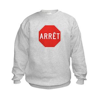 Stop, Quebec (CA) Kids Sweatshirt