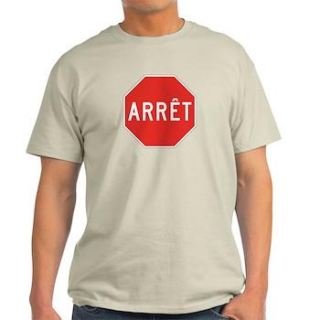 Stop, Quebec (CA) Light T-Shirt